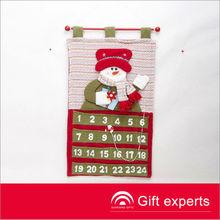 Cheap popular snowman fabric christmas advent calendar