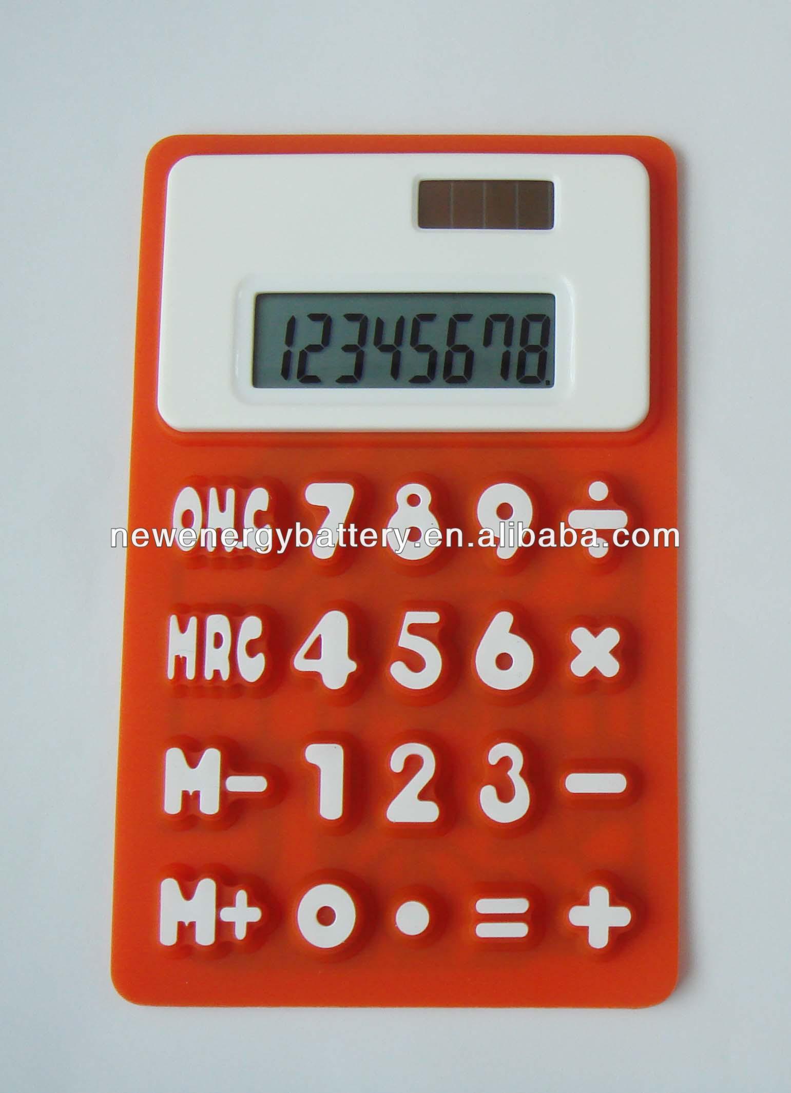 Unique new flexible solar mini calculator