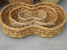 wicker gift/flower storage basket/willow peanut basket (factory supply)