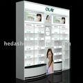 Détail, cosmetics magasin étagère en bois