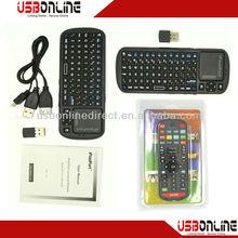 2 in 1 2.4G wireless remote controller, mini universal remote control & wireless mini keyboard with touchpad, Built in IR Remote
