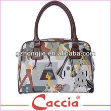 Customized logo print ladies handbags wholesale