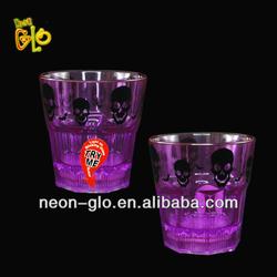 8oz Customized Logo Plastic Flashing LED Glass