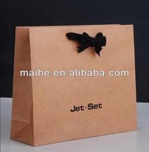 brown kraft paper carrier bags/brown kraft paper bag wholesale