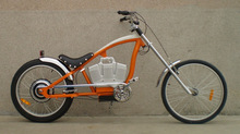 own designed powerful electric chopper bicycle