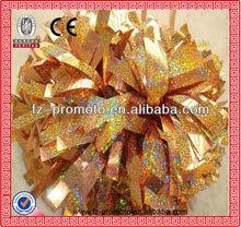wholesale plastic glitter cheerleader pompon/ cheerleader pom pom