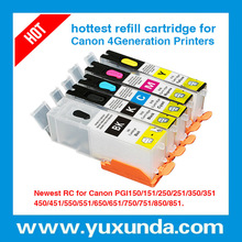 yuxunda new launched compatible ink cartridges for canon pgi-550 cli-551 with chip