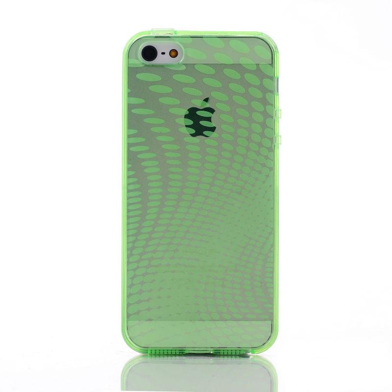 Rain Drop Skin Soft Flexible Cover TPU Case for iPhone 5S Mobile Phone