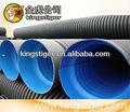 Pead dupla- wall ondulada da tubulação de esgoto tamanho 200 milímetros a 800mm