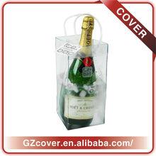 Wholesale plastic wine bottle cooler bags