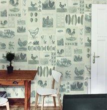 vintage wallpaper, the hen theme