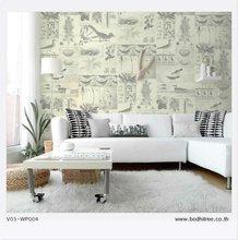 modern vintage wallpaper for home decoration