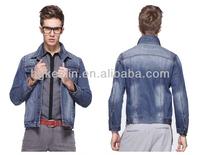 hot selling high quality man light blue denim plus size jacket