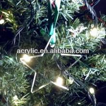 hot new acrylic star christmas tree decoration