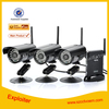 Waterproof 2.4GHZ 3CH complete cctv system /Mini camera