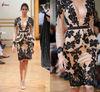 LZ-024 Fall-Winter 2013-2014 Two Piece Long Sleeve Short Appliqued Zuhair Murad Evening Dress 2013