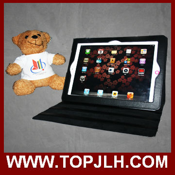 sublimation leder flip case für ipad 2