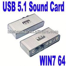 USB 6 Channel 5.1 Optical Audio 7.1 sound card