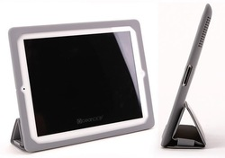 Top quality smart cover with nice elestic band flip case for ipad 4