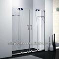 de vidrio sin marco puerta de la ducha