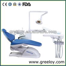 Shanghai Greeloy 2 Years Warranty Dental Supplier Dental Chair Unit With Operaion Light Hydraulic Dental Chair