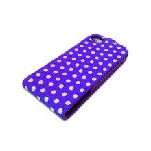 Small Polks Dot Basic Flip Case for One X Purple & White