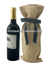 jute mini wine bottle bags with party
