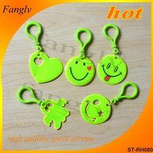 Reflective key chain,customized key chain,pvc key chain promotion reflective stuffed toys