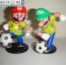Mini Football Player Toy/Custom Football Figure/Plastic Toys Footballers Figures
