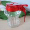 glass oil vinegar cruet with plastic handle