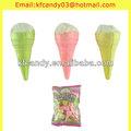72g mejor venta de mini de colores helado crujiente de caramelo de algodón algodóndeazúcar cono
