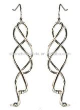 Tassel long pattern allergy free stainless steel grace for women drop dangle pendants earrings jewellery