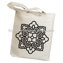 (Item No.:JC-C152) Rustic Cotton 100% Top Grade Pattern Canvas Tote Bag
