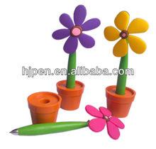Novelty Design Promotional Flower Shape Pen, Ball Pen With Flower