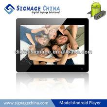 Android digital advertising display indoor slim