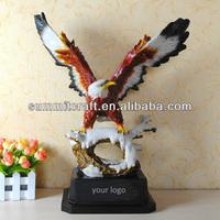 custom made polyresin large eagle statues