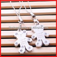 Individual cartoon daimond little bear pendant alloy lovers phone strap keychain