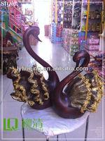 artificial resin swan white