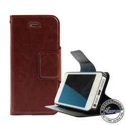 Bes quality Flip Leather Wallet Case Cover Folding Stand phone case for iphone 5