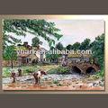 Modern paisagem da aldeia de pintura de paisagem( comprar diretamente)