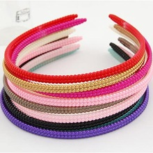 PC029 Wholesale mixed candy colors plastic headbands with teeth