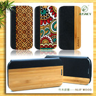 new trend phone case for samsung galaxy S4 S3 with wood and tpu leather