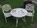 La parte superior de metal mesa redonda de comedor y silla/oasis de jardín muebles del patio de directa de la fábrica al por mayor