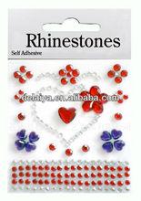 Promotion custom rhinestone diamond acrylic gem stone sticker for scrapbook