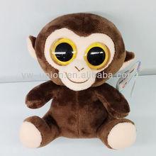 Big eyes stuffed monkey plush/13cm soft small toys monkey