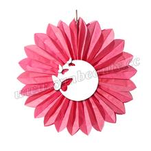 "hangzhou sunbeauty 10"" new design 28gsm tissue paper fan decoration wedding bird cage"