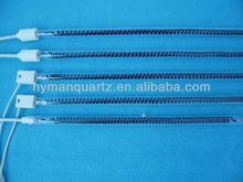 Safe handling and quick heating carbon fiber quartz heating tube
