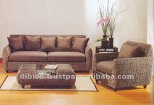 2012 design wood/rattan/wicker/water hyacinth sofa set 4pcs