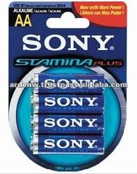 Sony Stamina Plus Alkaline 4 Piece AA Battery