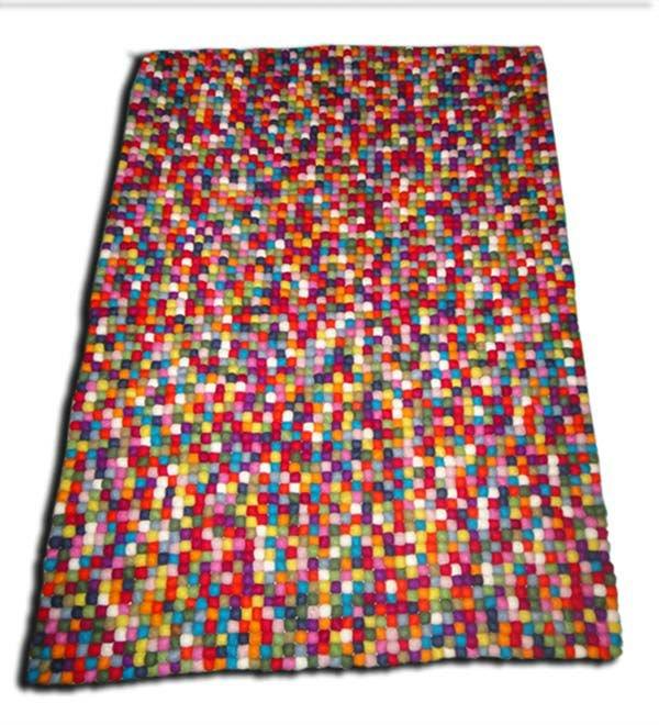 Rectángulo de bola de fieltro alfombrasalfombrasteppich